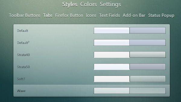 Capture d'écran - Options Firefox Stratiform