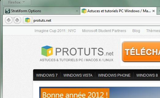 Capture d'écran - Firefox avec Stratiform