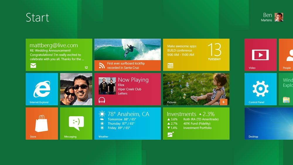 Start Screen Windows 8 - Imagine Cup 2012 Sydney