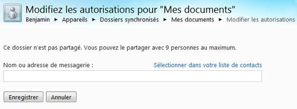 Capture d'écran - Windows Live Mesh, partage de vos documents