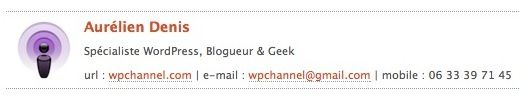 Capture d'écran - Signature HTML sous Apple Mail