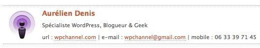 Capture d'écran - Signature HTML sous Apple Mail