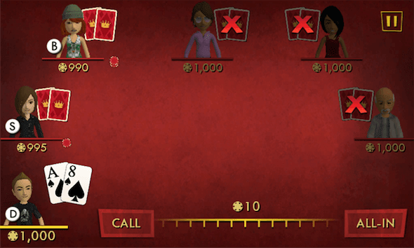 Capture d'écran - Full House Poker sous Windows Phone 7.5