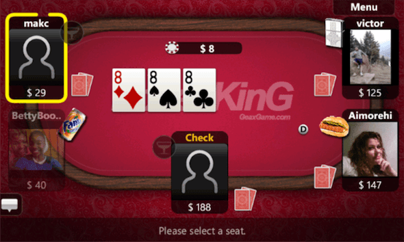 Capture d'écran - Poker KinG Online pour Windows Phone 7.5