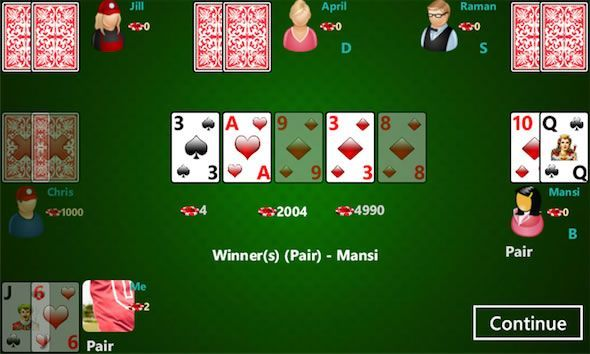 Capture d'écran - Poker4All pour Windows Phone 7.5