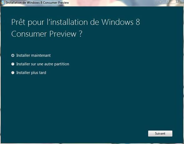 Capture d'écran - Installation de Windows 8, prêt pour l'installation ?