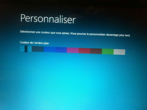 Capture d'écran - Installation de Windows 8, consumer preview, personnalisation du start screen