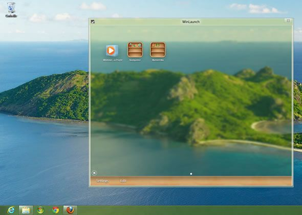 Capture d'écran - WinLaunch pour Windows 7, 8, Vista
