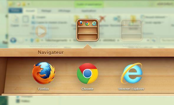 Capture d'écran - Création d'un dossier dans WinLaunch