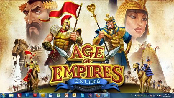 Capture d'écran - Age of Empires Online, thème visuel officiel Windows 7