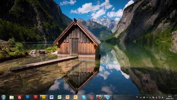 Capture d'écran - Allemagne : de la mer à la montagne, thème visuel officiel Windows 7