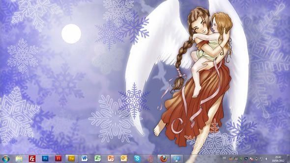 Capture d'écran - Anges des Neiges, thème visuel officiel Windows 7