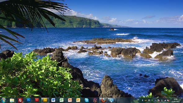 Capture d'écran - Eau bleue, thème visuel officiel Windows 7