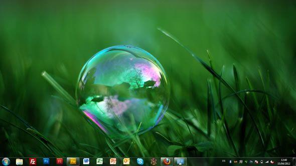 Capture d'écran - Bulles, thème visuel officiel Windows 7