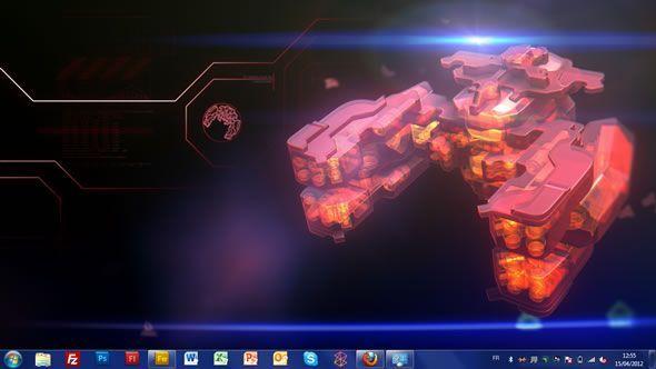 Capture d'écran - Bullet Asylum, thème visuel officiel Windows 7