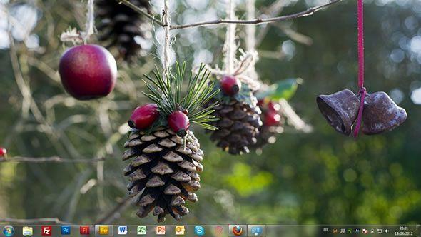 Capture d'écran - Décorations des arbres, thème visuel officiel Windows 7