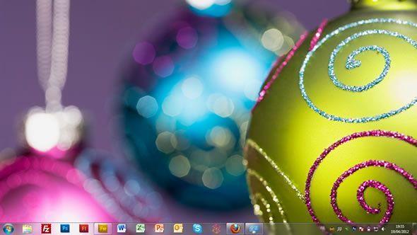 Capture d'écran - Décorations de Noël, thème visuel officiel Windows 7