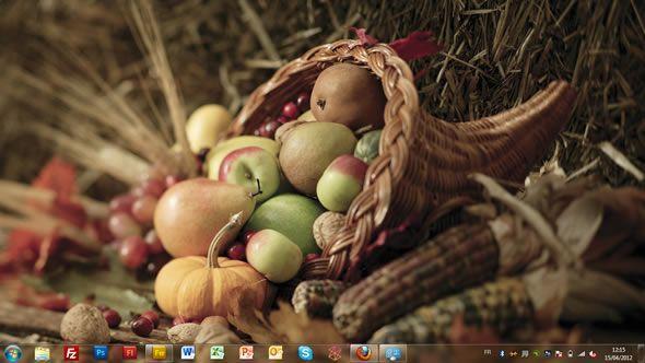 Capture d'écran - Délices automnales, thème visuel officiel Windows 7