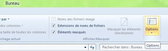 Capture d'écran - Ruban de l'explorateur Windows 8
