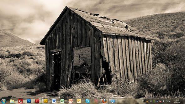 Capture d'écran - Ville fantôme, thème visuel officiel Windows 7