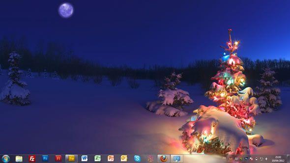 Capture d'écran - Lumières en fêtes, thème visuel officiel Windows 7