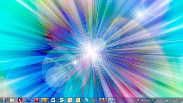 Capture d'écran -Images abstraites claires, thème visuel officiel Windows 7