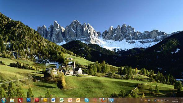 Capture d'écran - Italie, thème visuel officiel Windows 7