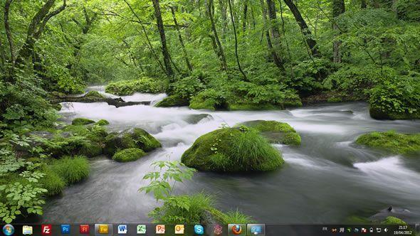 Capture d'écran - Japon, thème visuel officiel Windows 7