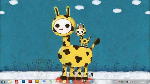 Capture d'écran - Kim Hana, thème visuel officiel Windows 7