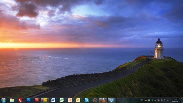 Capture d'écran - Lighthouses, thème visuel officiel Windows 7