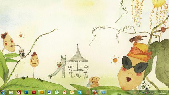 Capture d'écran - Maddalena Sisto, thème visuel officiel Windows 7