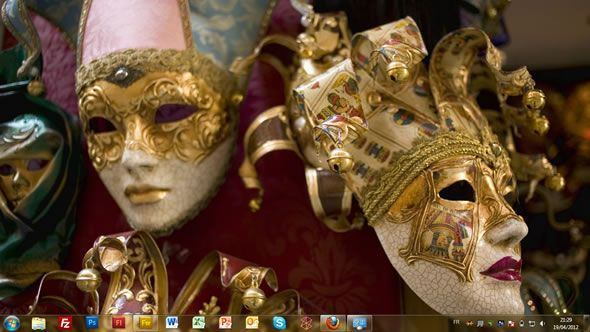 Capture d'écran - Mascarade, thème visuel officiel Windows 7