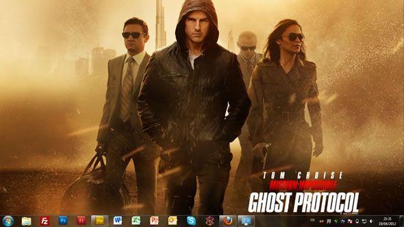 Capture d'écran - Mission Impossible 4 - Protocole fantôme, thème visuel officiel Windows 7