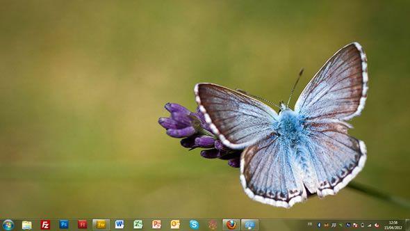 Capture d'écran - Papillons, thème visuel officiel Windows 7