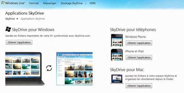 SkyDrive, l'application de cloud storage gratuite par Microsoft disponible sur toutes les plateformes