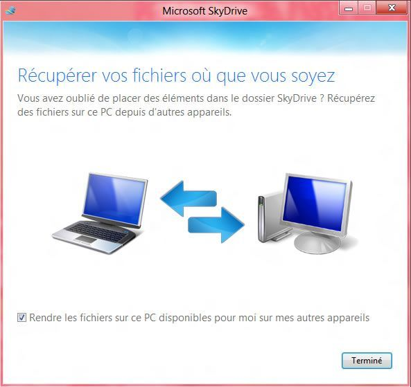 Capture d'écran - Etape 4 de l'installation de SkyDrive sous Windows