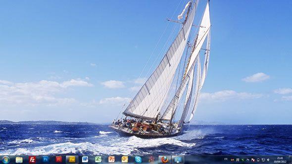 Capture d'écran - Voile, thème visuel officiel Windows 7
