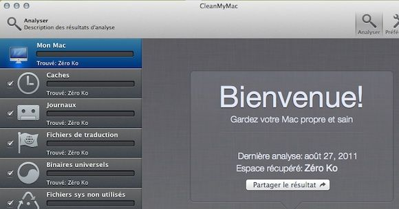 Capture d'écran - CleanMyMac