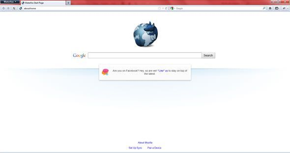 """Capture d'écran - Waterfox, la version """"non officielle"""" de Firefox 64 bits pour Windows 7, Vista"""