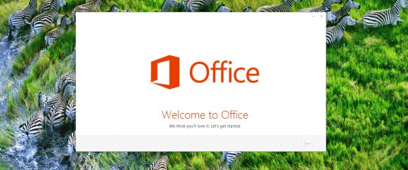Microsoft Office 2013 Preview, écran de démarrage de l'installation