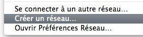 Capture d'écran - Réseau adhoc Mac vers Mac