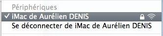 Capture d'écran - Réseau adhoc sous Mac