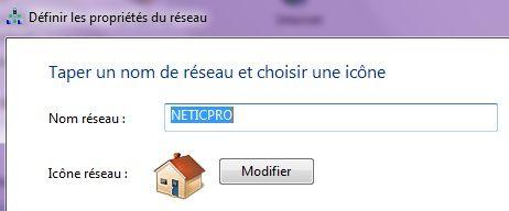 Capture d'écran - Renommer le réseau sous Windows 7