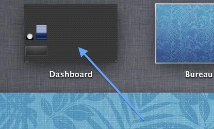 Capture d'écran - Présence du dashboard sous Mountain Lion