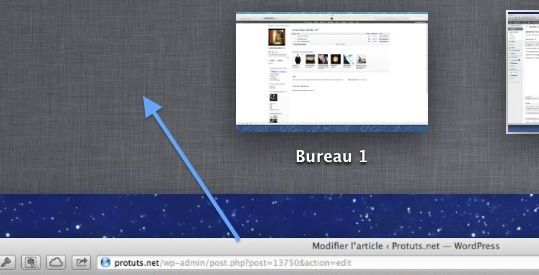 Capture d'écran - Absence du Dashboard sous MacOS X