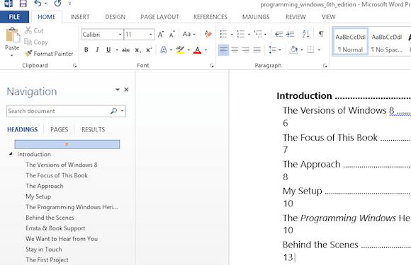 Capture d'écran - Un fichier PDF ouvert sous Word 2013