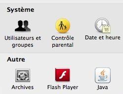 Capture d'écran - Préférences Système, utilisateurs et groupes