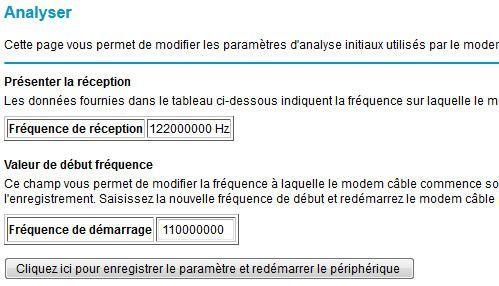 Capture d'écran - Statut MTA, routeur Netgear Numericable