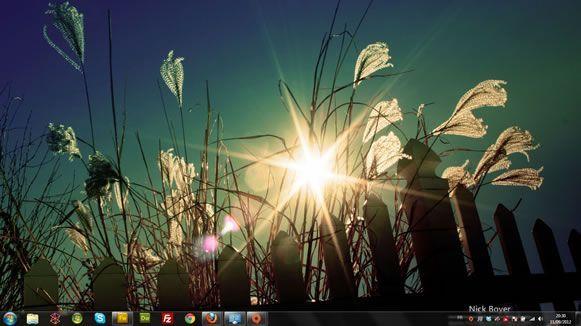 Capture d'écran - Ombre et lumière, thème visuel officiel Windows 7
