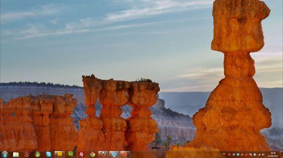 Capture d'écran - Grès du Sud Ouest, thème visuel officiel Windows 7